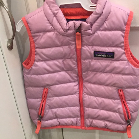 Jackets Coats Patagonia Baby Down Sweater Vest Pink 612 Months